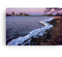 Charles Riverside of Ice Canvas Print