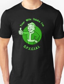 "Fallout Vault boy tshirt special ""Your Wife"" T-Shirt"