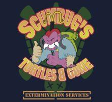 Scumbug's Turtles B gone Extermination Services  Kids Tee
