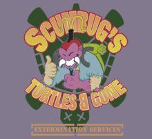 Scumbug's Turtles B gone Extermination Services  T-Shirt