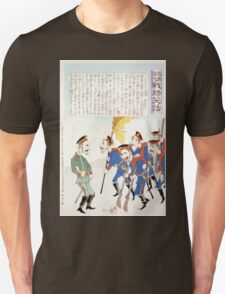 Caricature of Russian army showing Russian officer with troops in formation 001 T-Shirt