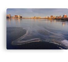 Charles Sheet of Ice Canvas Print