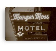 Route 66 - Munger Moss Motel Canvas Print