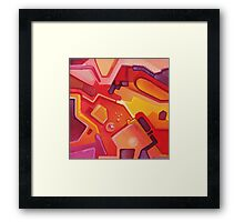Plasticon - Abstract Acrylic Canvas Painting Framed Print