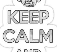 Keep Calm and Don't Get Bitten (Zombies) Sticker