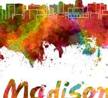 Madison skyline in watercolor Sticker