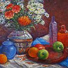 Still life with carnations by Julia Lesnichy
