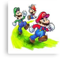 Mario and Luigi Brothers - Nintendo Canvas Print