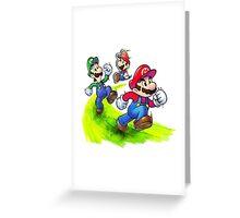 Mario and Luigi Brothers - Nintendo Greeting Card
