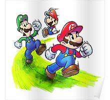 Mario and Luigi Brothers - Nintendo Poster