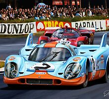 Porsche 917 at Le Mans by davidkyte
