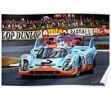 Porsche 917 at Le Mans Poster