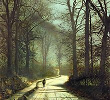 Moonlight Walk by Bridgeman Art Library