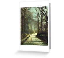 Moonlight Walk Greeting Card