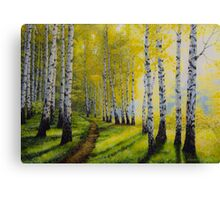 Path to autumn Canvas Print