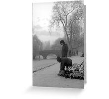 Skating on the Cambridge Backs, 1962 Greeting Card