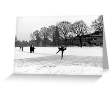 Skating on Parker's Piece, Cambridge, 1963 Greeting Card