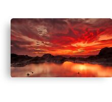 Image of a red landscape Canvas Print