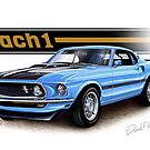 1969 Mustang Mach 1 in Light Blue by davidkyte