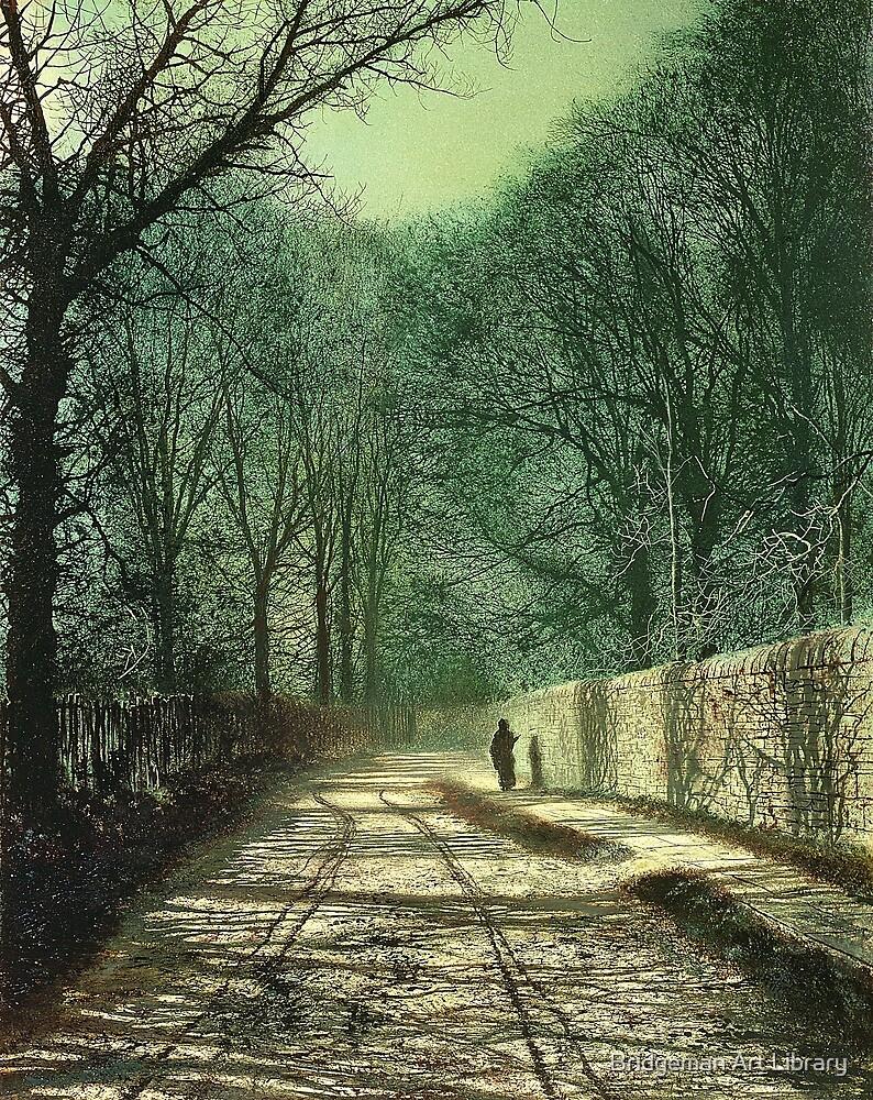 Tree Shadows on the Park Wall, Roundhay, Leeds, 1872  by Bridgeman Art Library