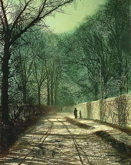 Tree Shadows on the Park Wall, Roundhay, Leeds, 1872  by Bridgeman Art Library
