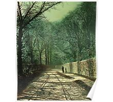 Tree Shadows on the Park Wall, Roundhay, Leeds, 1872  Poster