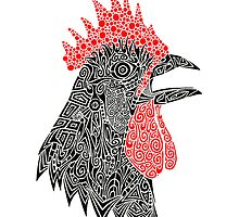Cock-A-Doodle by artbybrad