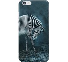 blue zebra iPhone Case/Skin