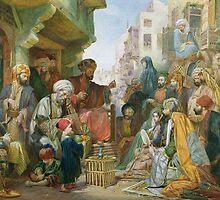 A Street in Cairo by Bridgeman Art Library