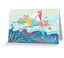 All Aboard! Greeting Card