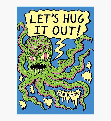 Lets Hug It Out Photographic Print