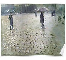 Study for a Paris Street, Rainy Day, 1877 Poster
