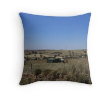 Looking across the Paddocks on my way home. Mt. Pleasant S.Aust. Throw Pillow