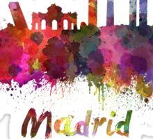 Madrid skyline in watercolor Sticker