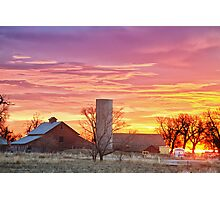 Early Country Morning Sunrise Photographic Print