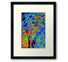 colorized mask Framed Print