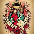 Souffl Girl - Print by MeganLara