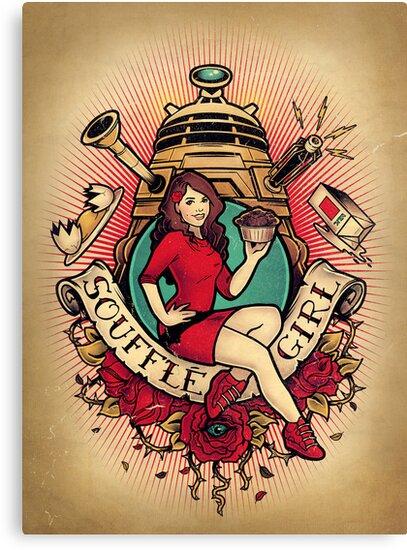 Soufflé Girl - Print by MeganLara