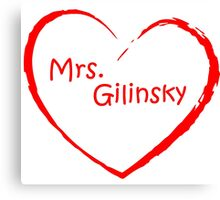 love Mrs. Gilinsky Red Canvas Print