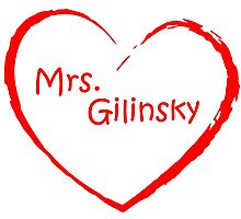 love Mrs. Gilinsky Red Photographic Print