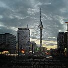 look to the berlin television tower by fuxart