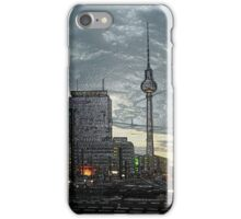 look to the berlin television tower iPhone Case/Skin