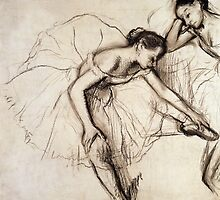 Two Dancers Resting  by Bridgeman Art Library