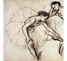 Two Dancers Resting  Photographic Print