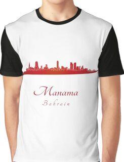 Manama skyline in red Graphic T-Shirt