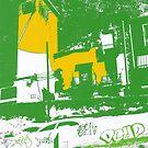spanish buildings print by H J Field