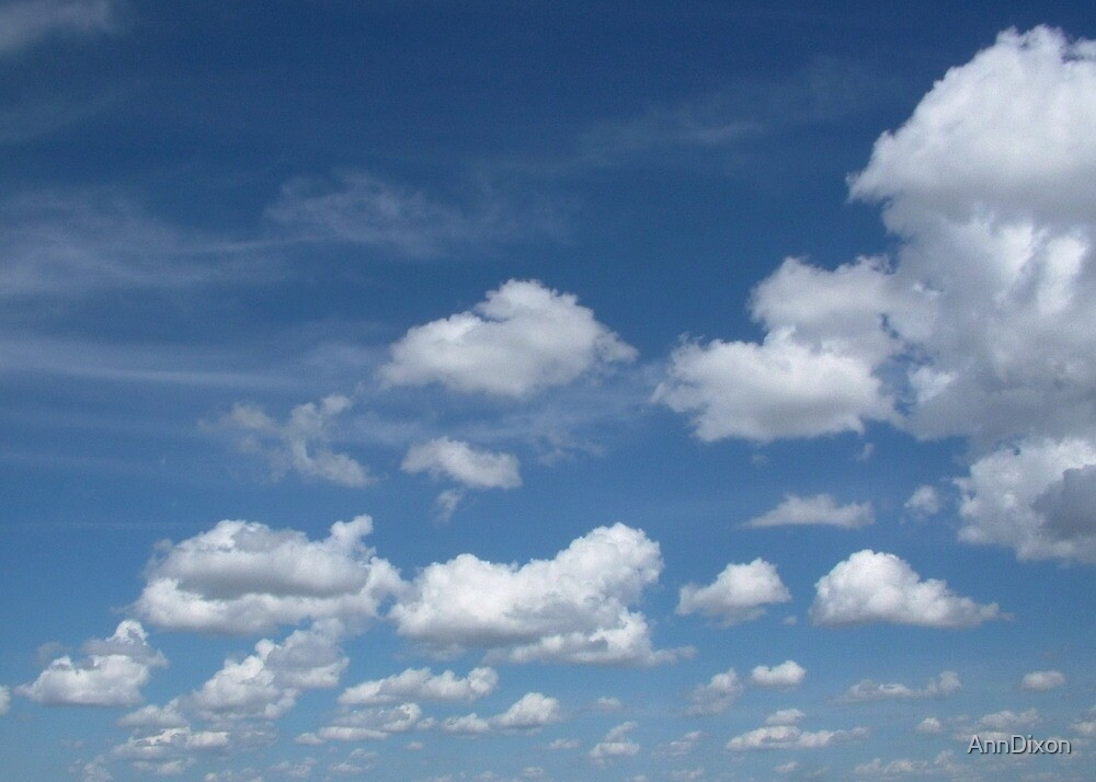 Fluffy Clouds by AnnDixon