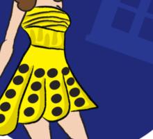 Dalek Souffle Girl Yellow Sticker
