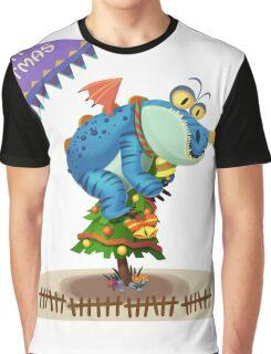 The Sloth Dragon Monster Comes to wish You Merry Christmas Graphic T-Shirt