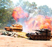 Tank battle by ccrcats